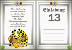 Einladungskarten Geburtstag 13 Jahre Kostenlos