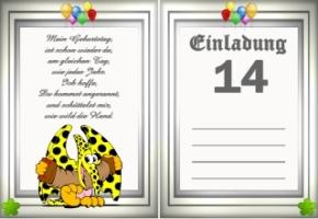 Einladungskarten Geburtstag 14 Jahre Kostenlos