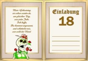 einladungskarten geburtstag jahre 18 3 einladungskarten geburtstag ...