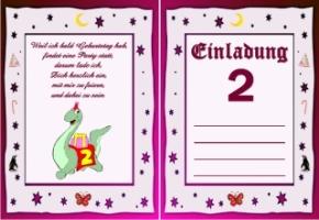 Einladungskarten Geburtstag 2 Jahre Kostenlos