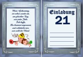 Geburtstag jahre 21 3 einladungskarten geburtstag jahre 21 4
