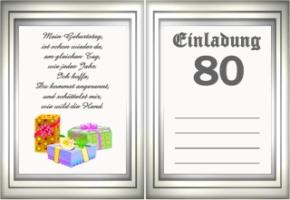 Einladung Geburtstag Text 80 Geburtstagsspruche