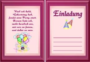 Geburtstagseinladungen Vorlagen Texte Kostenlos