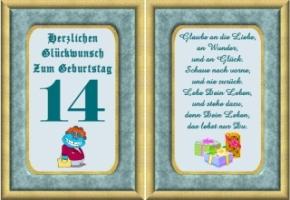 Geburtstagsgluckwunsche zum 14ten geburtstag