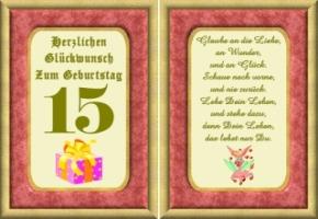 Geburtstagswünsche Zum 15 Geburtstag Zum Geburtstag Wünsche