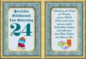 Zum tochter 24 für geburtstagswünsche Geburtstagsspruch für