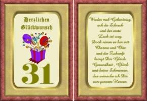 sprüche 31 geburtstag