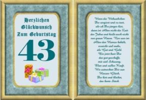 43 geburtstag sprüche