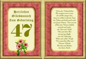 Lustige Geburtstag Wünsche 47 Jahre Kostenlos Ausdrucken