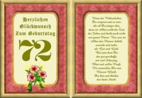 Lustige Geburtstag Wünsche 72 Jahre Kostenlos Ausdrucken