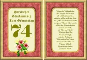 Lustige Geburtstag Wünsche 74 Jahre Kostenlos Ausdrucken
