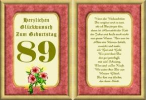 Lustige Geburtstag Wünsche 89 Jahre Kostenlos Ausdrucken